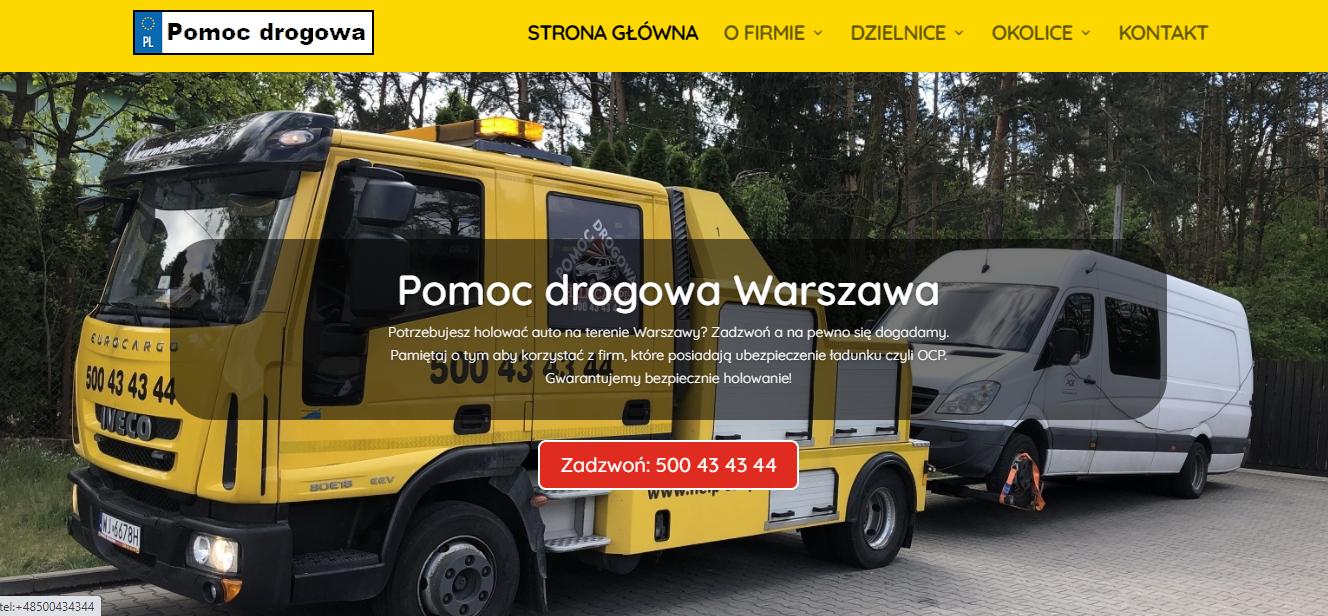 auto pomoc drogowa Warszawa